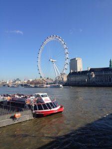 テムズ川+ロンドンアイ