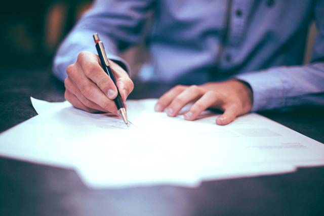 イギリスの結婚式の署名のイメージ