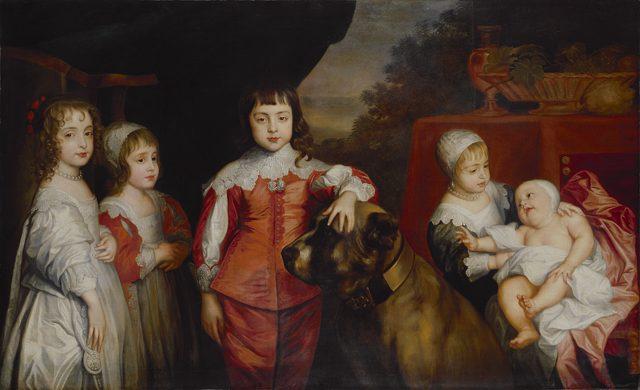 チャールズ1世の5人の子どもたちの肖像画